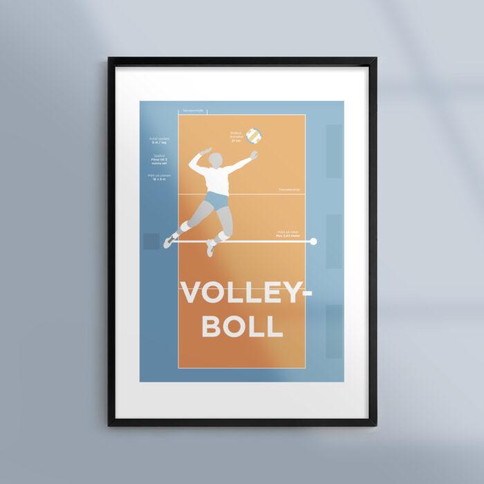 En poster om volleyboll