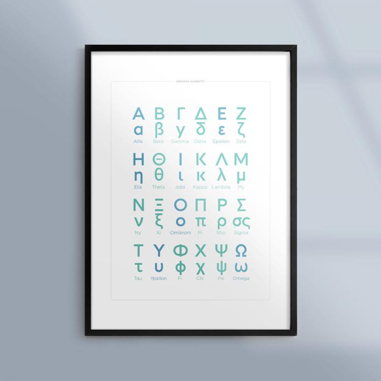 Kunskapsposter Grekiska Alfabetet Ram