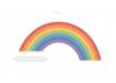 Poster med regnbågens färger