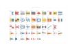 En poster med marina signalflaggor