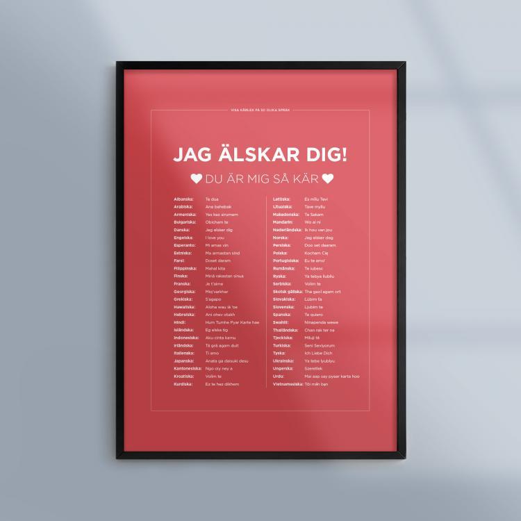 Poster-Tavla-Sprak-Karlek-Love-Ram-Kunskapat