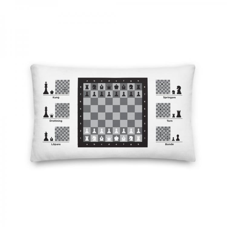 Kudde-schack-spelrum-svartvit-kunskapat