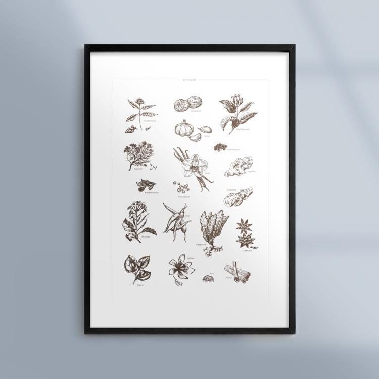 Poster-Kokstavla-Kryddor-Smaksattare-Ram-Kunskapat